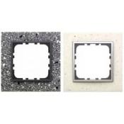 Рамки из декоративного камня, натурального алюминия, светлого/темного стекла LK60 (25)
