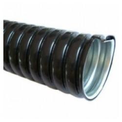 Металлорукав МРПИ D10 мм в ПВХ изоляции (черный), бухта 100м, цена за метр