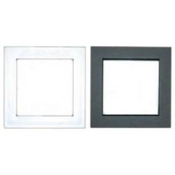 Серия FLAT Рамки пластиковые (цвет белый, серебристый металлик, черный бархат )