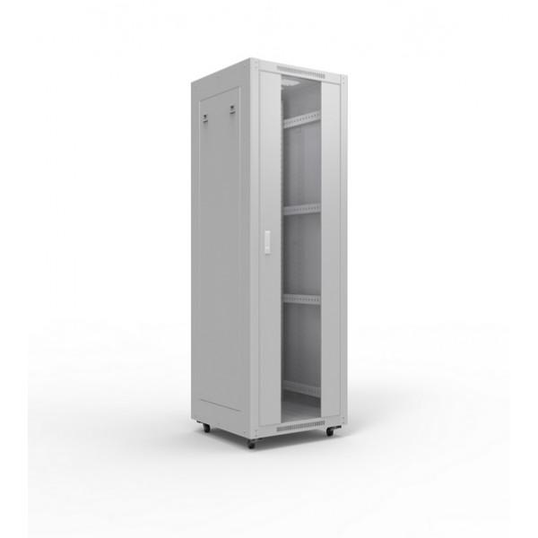Шкаф монтажный 19 напольный 45U (ШхГ) 800х1000 мм, дверь стекло