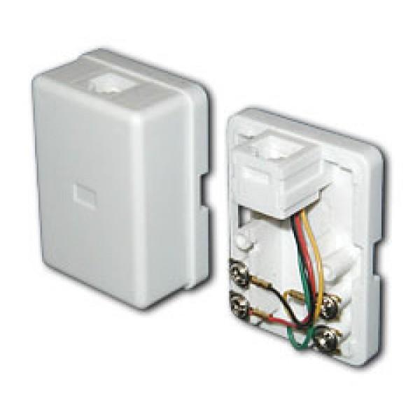 Розетка телефонная RJ-11 и Ethernet RJ-45 серебряная рифленая WL09-RJ11-45 4690389085055